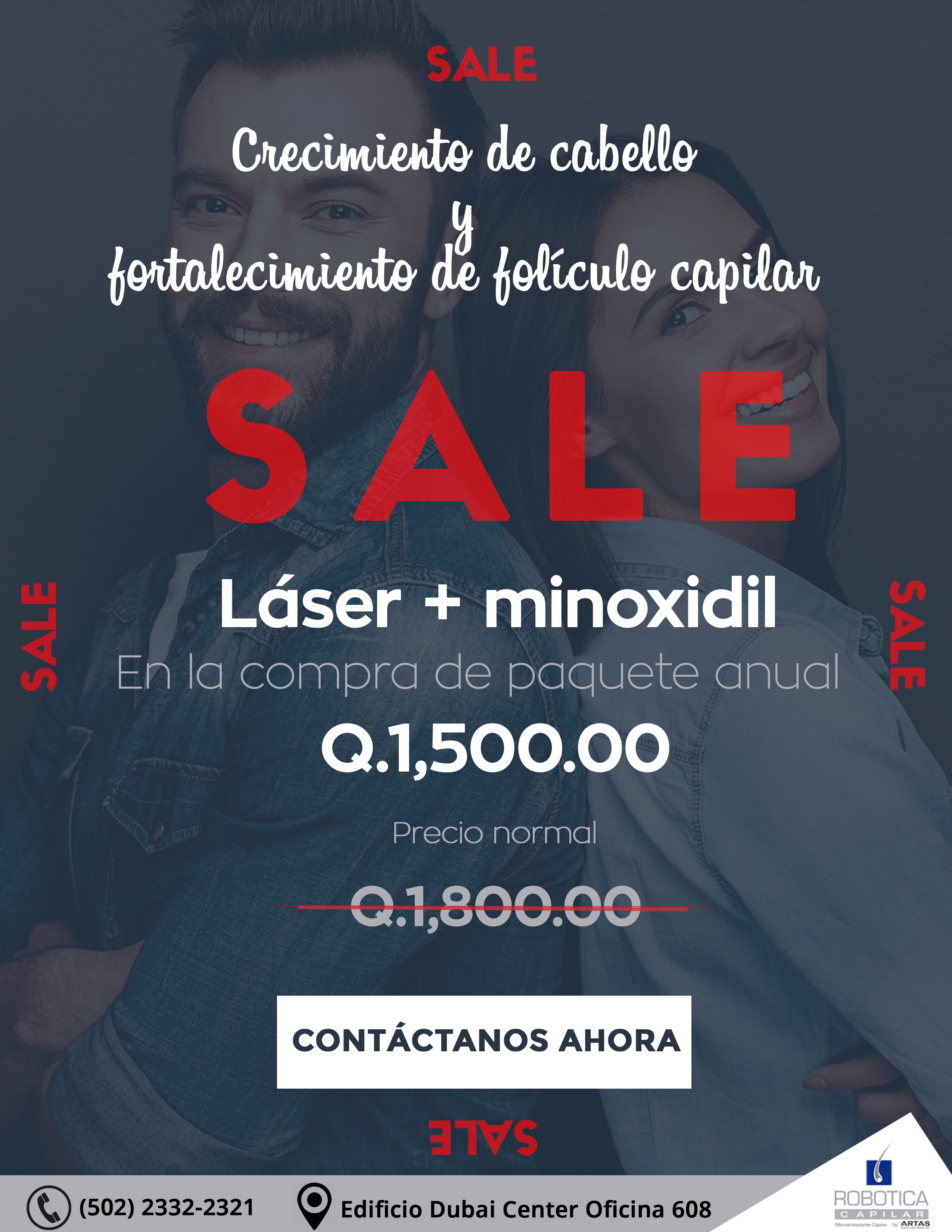 Laser + minoxidil anual